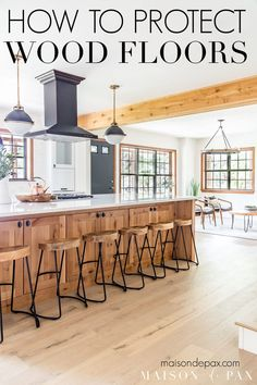 Engineered Hardwood In Kitchen Best Of How to Protect Wood Floors Maison De Pax Types Of Wood Flooring, Solid Wood Flooring, Engineered Hardwood Flooring, Hardwood Floors In Kitchen, Wood Floor Kitchen, Kitchen Flooring, Kitchen Mats, Easy Home Decor, Cheap Home Decor