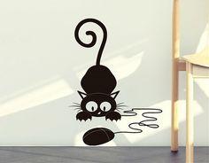 . Vinilo Decoración EL gato y el ratón 03211