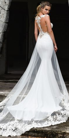 Fashionable Tulle & Acetate Satin Jewel Neckline Mermaid Wedding Dress With Bead. - Fashionable Tulle & Acetate Satin Jewel Neckline Mermaid Wedding Dress With Beaded Lace Appliques & - Western Wedding Dresses, Wedding Dress Trends, Sexy Wedding Dresses, Perfect Wedding Dress, Designer Wedding Dresses, Bridal Dresses, Lace Wedding, Wedding Gowns, Modest Wedding