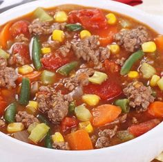 Hamburger Soup Ingredients: oz) extra lean ground beef oz) uncooked ground turkey breast 1 cup finely chopped onions 2 carrots, coarse shredded 2 celery ribs, sliced 2 garlic cloves, minced 6 cups reduced sodium beef broth 2 oz) cans diced tomatoes, Hamburger Vegetable Soup, Vegetable Soup Recipes, Veggie Soup, Veg Beef Soup, Vegetable Stew, Taco Soup, Lentil Soup, Cooker Recipes, Crockpot Recipes