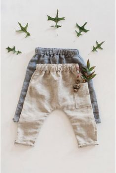Shop for handmade, vintage, custom, and unique gifts for everyone : Handmade Linen Baby / Toddler Pants Toddler Pants, Baby Pants, Kids Pants, Kids Fashion Boy, Toddler Fashion, Pinterest Boys, Boys Linen Pants, Couture Bb, Kids Clothes Boys