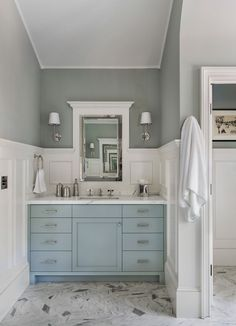 Master bath sink in San Francisco home from architect Tim Barber Ltd. {House of Turquoise}