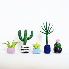 Cactus clay figurines More