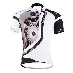 ILPALADINO Maillot de Ciclismo Hombre Unisex Manga Corta Bicicleta Camiseta Maillot  Top Ropa para Ciclismo 4ba97f6b0069a