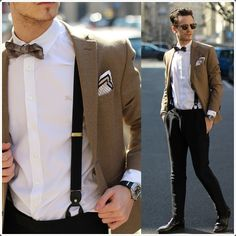 suspenders with jackets