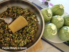 Vegan Vegetarian, Vegetarian Recipes, Greek Recipes, Cabbage, Grains, Rice, Vegetables, Cooking, Food
