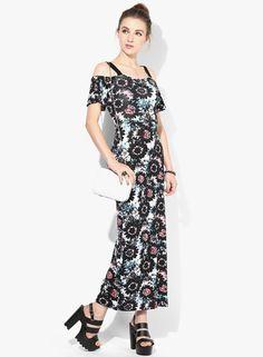 Buy Miss Selfridge Multicoloured Printed Maxi Dress Online - 3219368 - Jabong Lakme Fashion Week, Miss Selfridge, Cold Shoulder Dress, India, Printed, Shopping, Dresses, Vestidos, Goa India