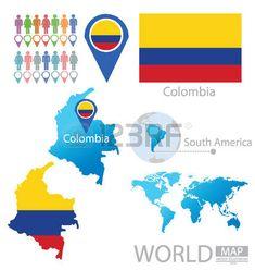 Colombia vector Ilustración Vectores