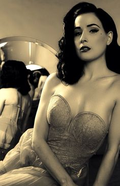 Dita Von Teese by Scott Nathan- perhaps something like this of me for my husbands side of the bed...