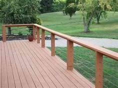 I am planning on refurbishing my home's pressure treated deck soon. I will flip the deck boards that are in good shape and replace those that need it. Modern Deck, Modern Backyard, Backyard Patio, Deck With Pergola, Pergola Plans, Pergola Kits, Deck Stairs, Deck Railings, Railing Ideas