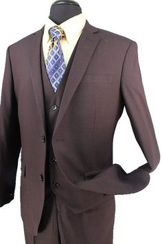 Apollo King Classic Fit Solid Brown Two Button Pure Linen Suit