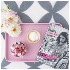 Mothers' Day Breakfast | Pink & Grey Pretties, Renegade Collective instagram.com/mintandfizz #mothersday #collectivehub #pink #grey #kmartstyle #lindt #coffee