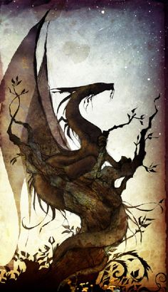 wood dragon : : Myriam Catrin - http://heritagecharlie.typepad.com