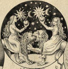 """UNDÉCIMA CLAVE: """"Como Orfeo a Eurícide, el hermano desposará a la hermana, y de sus cuerpos se verterá la sangre. Júntala al humor cálido del padre y de la madre, después cierra con cuidado el globo de los adeptos. Entonces el fiero león de prolífero cuerpo contemplará, feliz, su numerosa prol."""