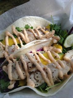Garbo's Grill, Key West. Scrumptious fish tacos. I'm ready to go back for more! In the meantime, determined to find a good homemade substitute.