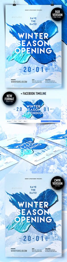 Winter Flyer Poster  Electronic Music Winter And Party Poster