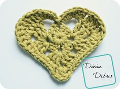 Free crochet heart applique and earrings patterns from DivineDebris.com