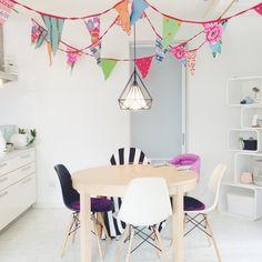 popさんの、キッチン,IKEA,ダイニング,イームズ,北欧,パーティー,のお部屋写真 Dining Room, Interior, Indoor, Interiors, Dining Rooms, Restaurant