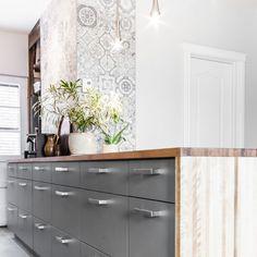 Turgeon project reveal - VALÉRIE DE L'ÉTOILE INTERIOR DESIGNER Kitchen Island, Kitchen Cabinets, Armoire, Decoration, Vanity, Bathroom, Designer, Home Decor, Wallpaper