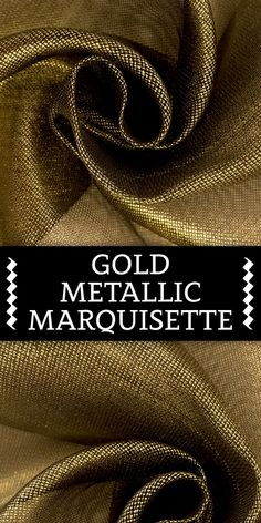 Gold Metallic Silk Marquisette (Made in Italy) B And J Fabrics, Textile Fabrics, Fabric Names, Art N Craft, Fashion Fabric, Fabric Patterns, Color Inspiration, Carpets, Linens
