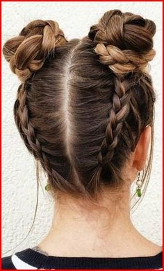 Braided Space Buns Channel your inner Ariana Grande, with these super cute buns!… Braided Space Buns Channel your inner Ariana Grande, with these super cute buns!…,Frisuren Braided Space Buns Channel your inner Ariana Grande,. Cute Hairstyles For Teens, Teen Hairstyles, Party Hairstyles, Hairstyle Ideas, Hair Ideas, Easy Hairstyle, Summer Hairstyles, Wedding Hairstyles, Everyday Hairstyles