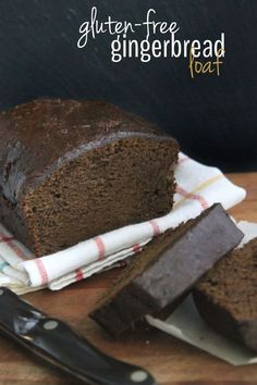 Gluten-Free Gingerbread Loaf // thehealthymaven.com #recipe #healthy