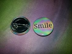 """Smile 1.25"""" Button Now Available in our Etsy Store- TravelersWagon And in our Ebay Store- jennytravelerswagon Or at travelerswagon.com"""