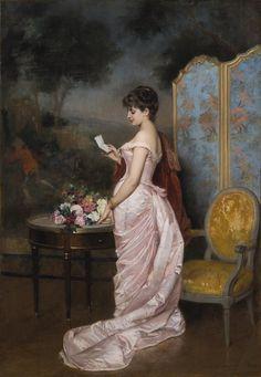 Auguste Toulmouche (1829-1890)  — The Letter  (1226x1772)
