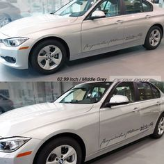 Car Full Name Decal Cursive Lettering For BMW