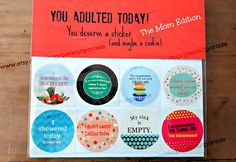 Hey, I found this really awesome Etsy listing at https://www.etsy.com/listing/286728475/adulting-reward-stickers-the-mom-edition