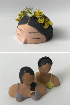Ceramic art by Julia Ballenger #ceramics #women #selfcare