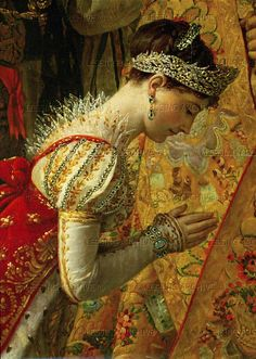 Empress Josephine-exact date unknown..look at the beautiful detail........yeah, I'd love to have this!