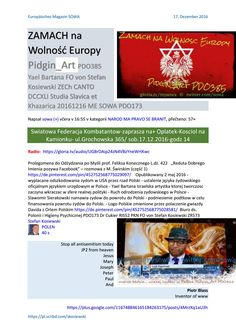 Zamach na wolnosc europy pidgin art pdo385 yael bartana fo von stefan kosiewski zech canto dccxli st  http://sowa.quicksnake.cz/NAROD-MA-PRAVO-SE-BRANIT/ZAMACH-na-Wolnosc-Europy-Pidgin-Art-PDO385-Yael-Bartana-FO-von-Stefan-Kosiewski-ZECh-CANTO-DCCXLI-Studia-Slavica-et-Khazarica-20161216-ME-SOWA-PDO173