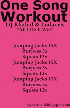 One Song Workouts + Playlist Harder than it looks!