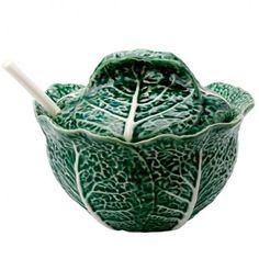Couve: Terrina - Peça de Cerâmica Teerina. Marcas Faianças Bordalo Pinheiro. Portugal