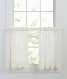 Tier Curtains Cotton Voile Tier Curtains - Country Curtains®
