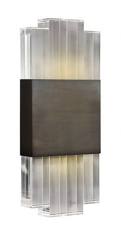 Chicago Wall Light - Bronze - with Polished Lucite - other Metal Finishes Available - Bella Figura Industrial Wall Art, Vintage Industrial Lighting, Industrial Light Fixtures, Led Light Fixtures, Led Light Installation, Luminaire Applique, Overhead Lighting, Lighting Ideas, Led Light Design