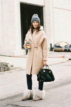 Cream coat | Street Style #Fashion