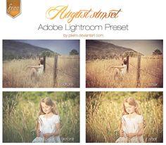 August Sunset Lightroom Presets