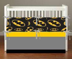 Super Hero Batman Theme Inspired Crib bedding