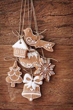 Gingerbread ornaments:)