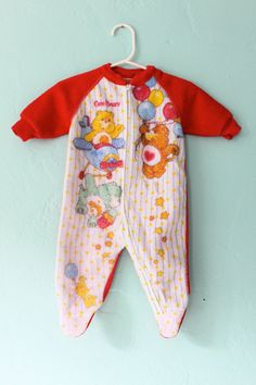 Infant Care Bears Pajamas by thepastisnow on Etsy, $10.50