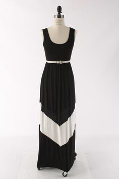 colorblock maxi in black & white www.eyecandyboutique.org