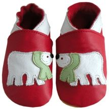 Polar Bear - soft leather shoes by Daisy Roots