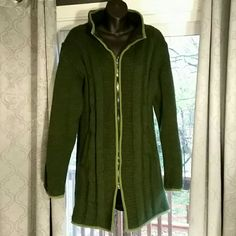 Selling this 100% Wool cable coat from Ireland sz M in my Poshmark closet! My username is: celtictattoo. #shopmycloset #poshmark #fashion #shopping #style #forsale #The Woolen #Jackets & Blazers
