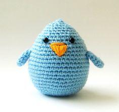 Blue Bird, häkeln, Spielzeug, Kindergarten Spielzeug, Ostern, Oster-Dekoration, Korb Geschenk, Junge, Plüschtier