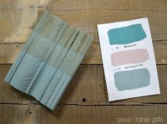 Chalk Paint® mix of Provence and Antionette with clear wax, 50/50 wax, and dark wax. Follow Green Table Gifts on Facebook for Mixology Monday! #chalkpaint #colormix #blue #aqua Annie Sloan Chalk Paint Colors, Annie Sloan Paints, White Chalk Paint, Paint Color Combos, Color Mixing, Colour Combo, Paint Colours, Chalk Paint Furniture, Furniture Refinishing