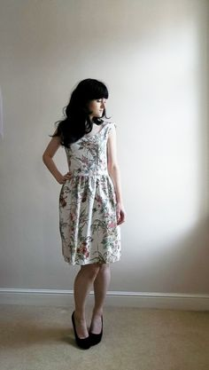 A pretty dress for a summer bridesmaid. Last One 50s Man Men Style Floral by katherinelkerrison. £45.00, via Etsy.