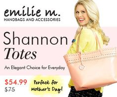 Get the Shannon Tote, originally $75, for just $54.99 now through 5/15!