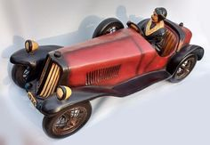 """Awesome racing car model for sale. Available to buy on eBay until 1 July 2017 -  Vintage 1926 Bugatti Racing Car Large Resin  27"""" x 11"""" x 10"""" - Beautiful example from this manufacturer."""